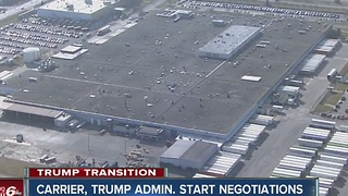 Carrier, Trump administration start negotiations - Video