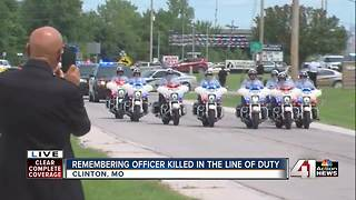 Ofc. Gary Michael police procession - Video
