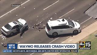 Waymo releases statement and video from crash in Chandler - Video
