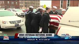 WWII Veteran laid to rest 73 years later - Video