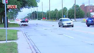 Dequindre closed at 11 Mile after wheelchair-bound person hit by car - Video