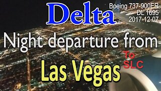 Stunning night takeoff by Delta flight DL1695 from Las Vegas airport