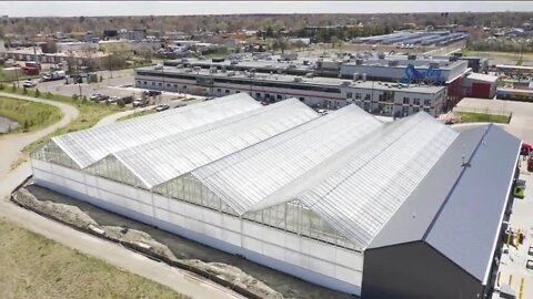 New greenhouse next to Stanley Marketplace