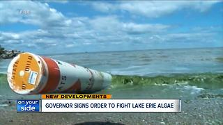 Ohio governor signs executive order to fight harmful algae blooms in Lake Erie