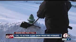 Firefighters asking residents to clear snow away from fire hydrants - Video