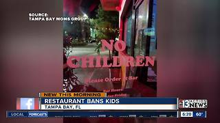 Florida pizza shop bans children - Video