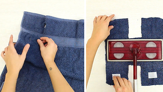 Upcycle old towels into cloth reusable pads - Video