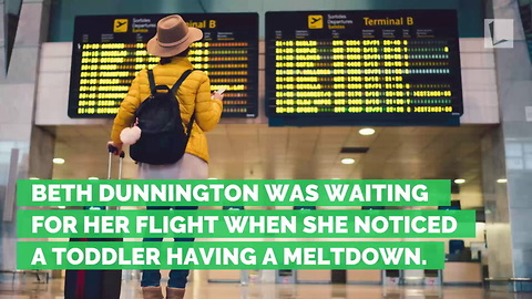 Mom Weeps on Ground in Airport During Toddler's Meltdown. Then Women Gather & Form a Circle