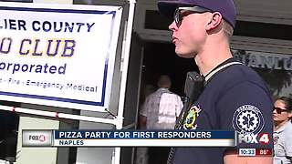 Restaurant offers first responders free pizza - Video