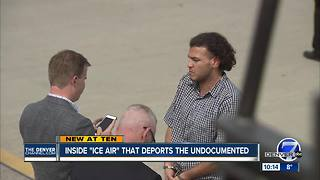 Many people deported from Denver this year by airplane after arrests by ICE - Video