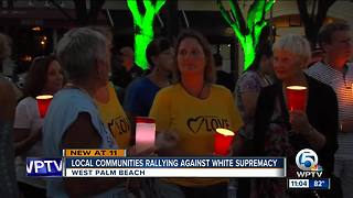Rally held against white supremacy held in West Palm Beach - Video