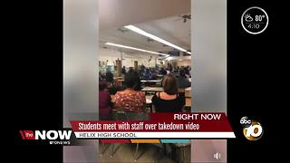 Students meet with staff over Helix High takedown video