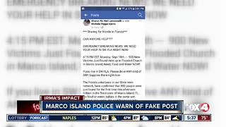 Marco Island Police give warning about fake Facebook post - Video