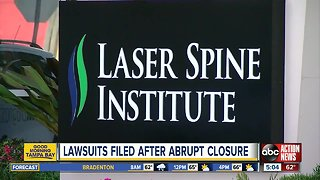 Federal lawsuits filed after closure of Laser Spine Institute
