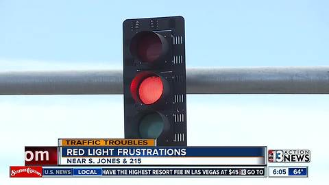 Red light frustrations near South Jones and the 215 beltway