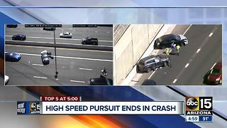 Suspect arrested after pursuit in Phoenix - Video