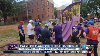 Ravens help build playground for kids in East Baltimore