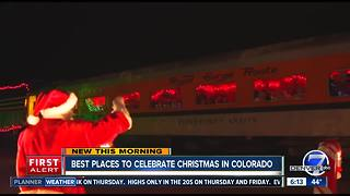 Christmas train rides in Colorado - Video