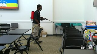 Literacy Coalition of Palm Beach County receives free cleaning courtesy of Stanley Steemer