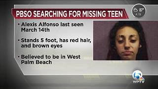Alexis Alfonso: PBSO seeks missing 15-year-old