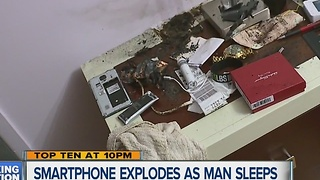 Man's Samsung Note 4 phone explodes while he sleeps - Video