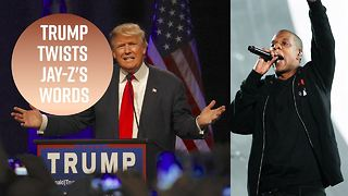 Trump starts Twitter beef with Jay-Z - Video