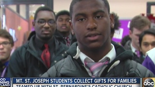 Mt. Saint Joseph students collect gifts for families - Video