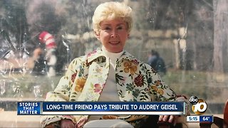 Long-time friend pays tribute to Audrey Geisel