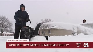 Winter storm impact in Macomb County