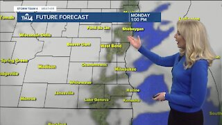 Cloudy, cool Sunday ay with highs in the upper 20s to low 30s