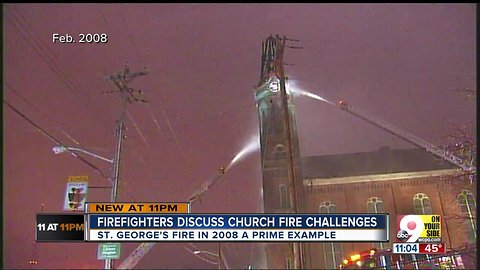 In 2008, Cincinnati experienced a church fire of its own