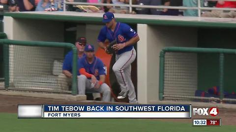 Tim Tebow Back in Southwest Florida