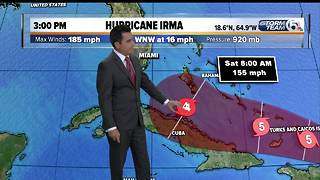 Hurricane Irma 3pm update: 9/6/17 - Video