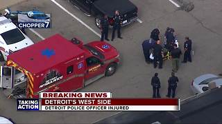 1 Detroit Police officer injured during foot pursuit - Video