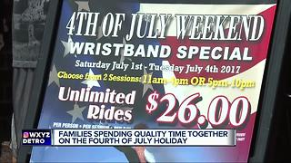 Families celebrating Fourth of July with fun in metro Detroit - Video