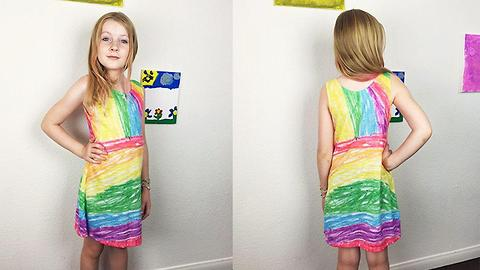 Daughter's Drawings Come To Life On Dresses