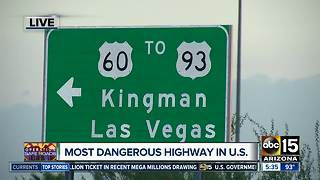 US 93 most dangerous highway in the country, study says - Video