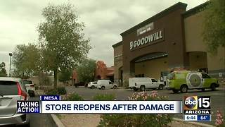 Goodwill store in Mesa reopening after major storm damage - Video