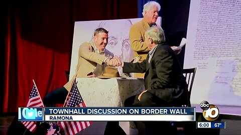 Rep. Duncan Hunter discusses border security in Ramona townhall meeting