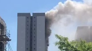 Fire Breaks Out at East London Tower Block - Video