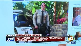 Settlement in two sexual misconduct lawsuits against deputy
