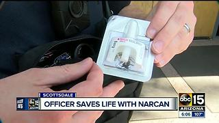 Scottsdale officer saves life with Narcan just weeks after training - Video