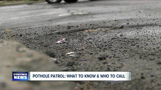 Pothole Patrol: What you need to know and who you should call? - Video