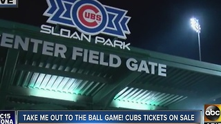 Chicago Cubs Spring Training tickets are about to go on sale - Video