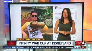 Avengers Infinity War cup at Disneyland - Video