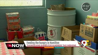 Hamilton businesses team up to make Thanksgiving meal for hungry families - Video