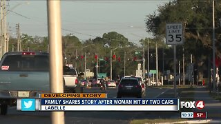 Family shares story after a woman is hit by two cars