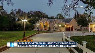 Disabled Veteran loses $100K in phony home sale