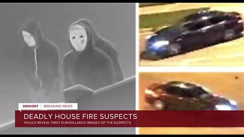 Investigators release photos of masked people, car believed connected to fatal Denver arson