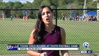 Child hurt during Little League football game
